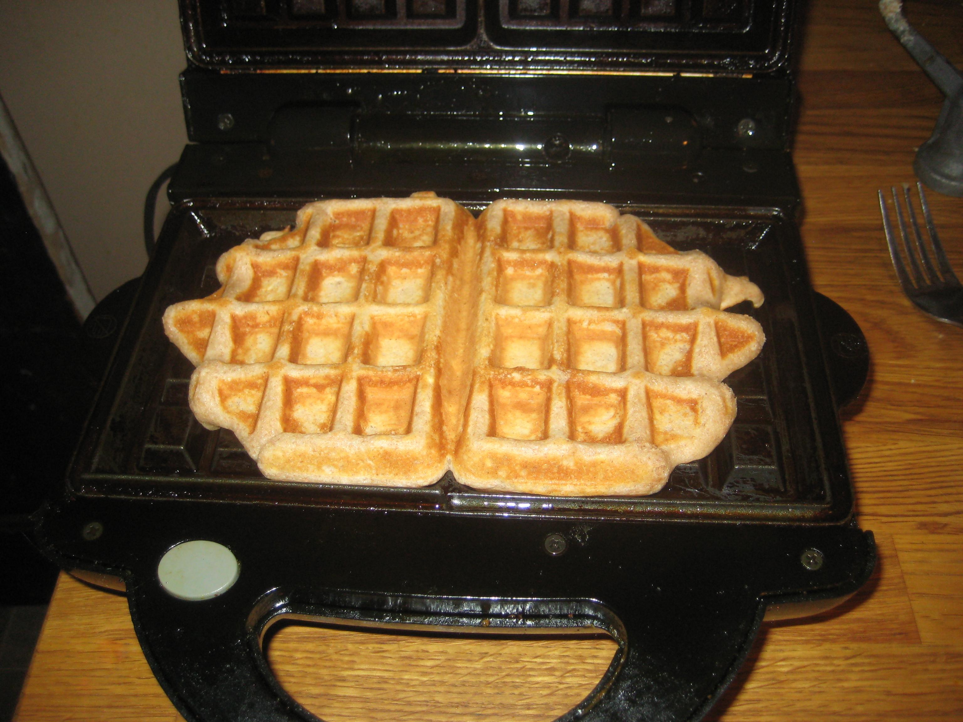 Whole Wheat Peanut Butter Waffles