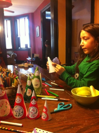 Making nesting dolls when we studied Russian history.
