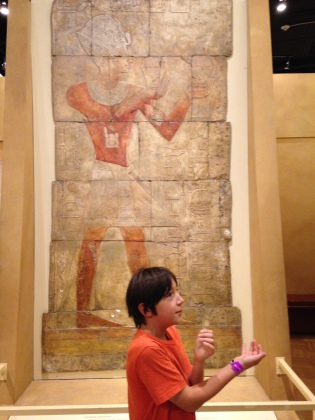 Mushroom imitating Thutmose at the Royal Ontario Museum.