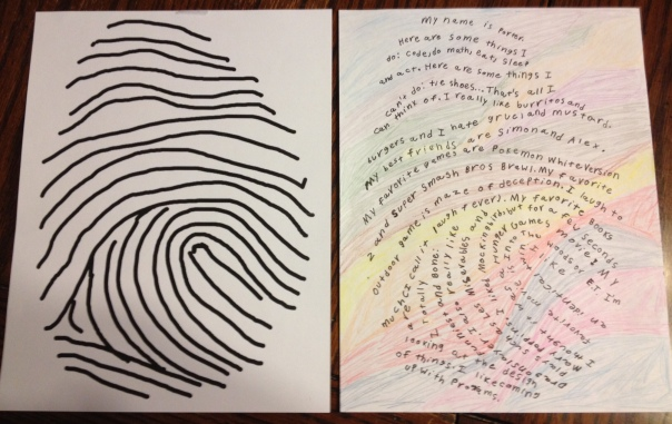 Writing projects thumbprint biographies i capture the
