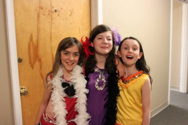 Three of the fabulous actors from our Much Ado show hanging out backstage (via Highwood Theater)